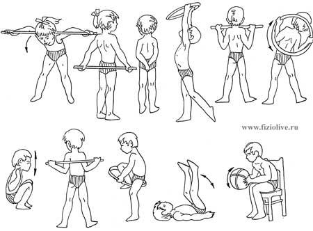 Примерный комплекс упражнений для дошкольников 3—4 лет
