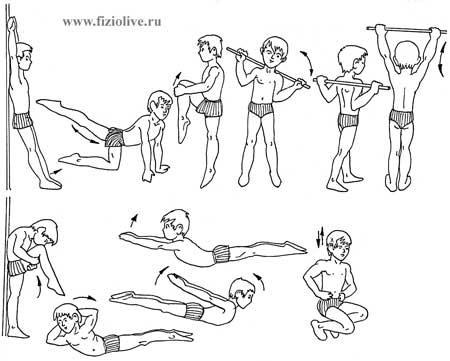Примерный комплекс упражнений для дошкольников 5—6 лет
