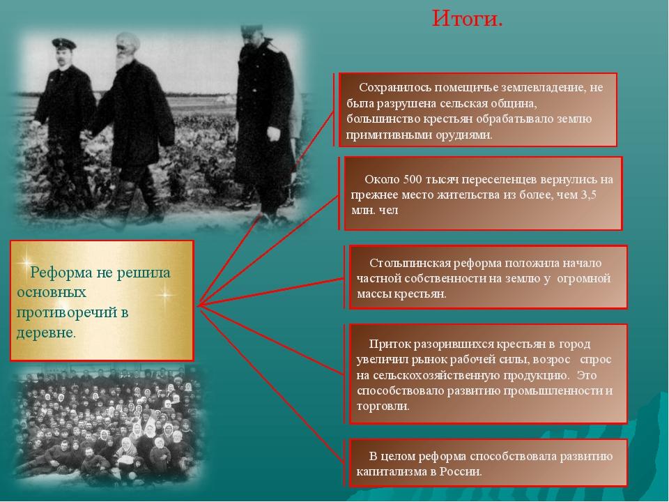 Программа реформ па столыпина особое внимание обращалось на рабочий вопрос
