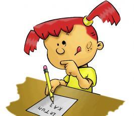 Картинки по запросу девочка пишет рисунок
