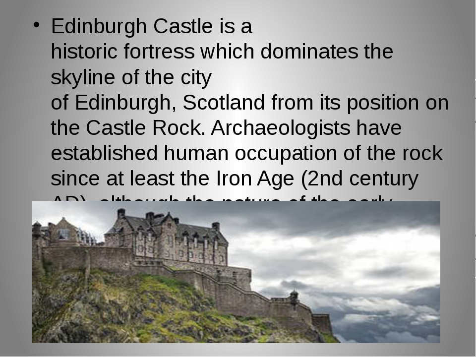 Edinburgh Castle is a historic fortress which dominates the skyline of the ci...