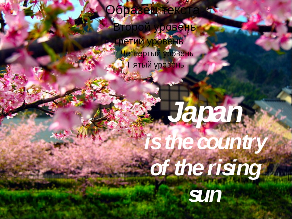 Japan is the country of the rising sun