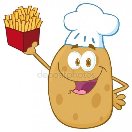 http://st2.depositphotos.com/1007168/6108/v/450/depositphotos_61085675-Potato-Chef-with-French-Fries.jpg