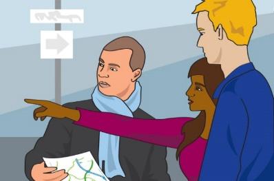 Картинки по запросу giving direction showing the way clip art