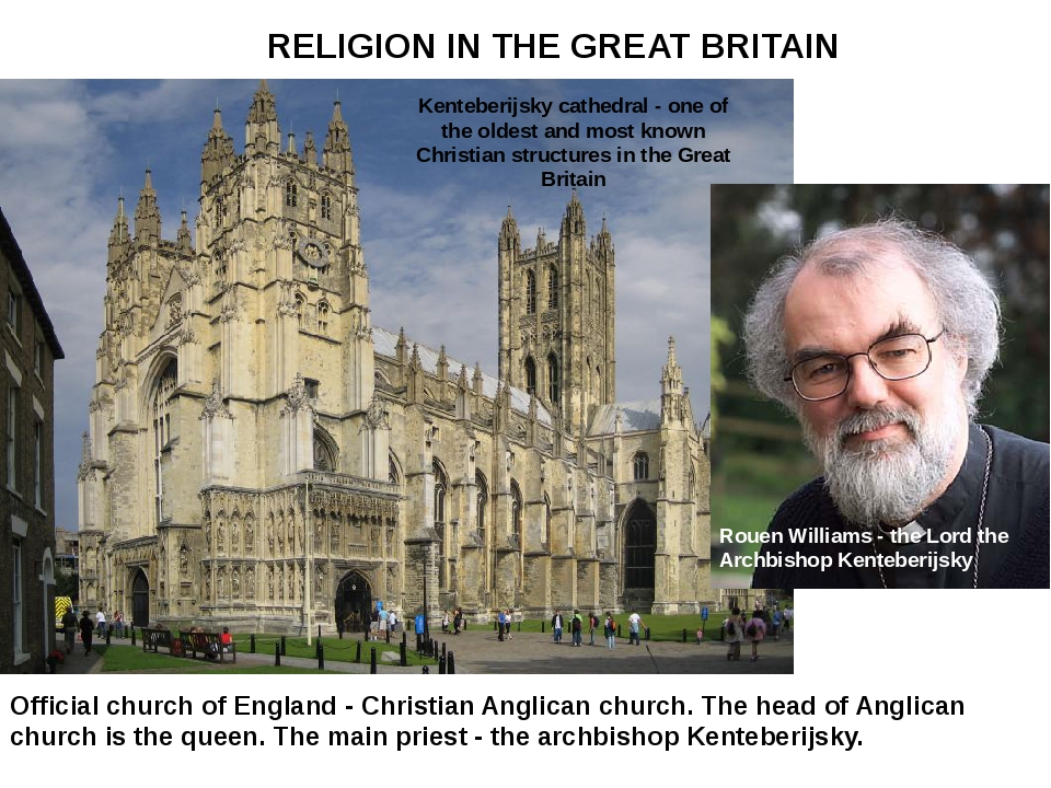 Official church of England - Christian Anglican church. The head of Anglican...