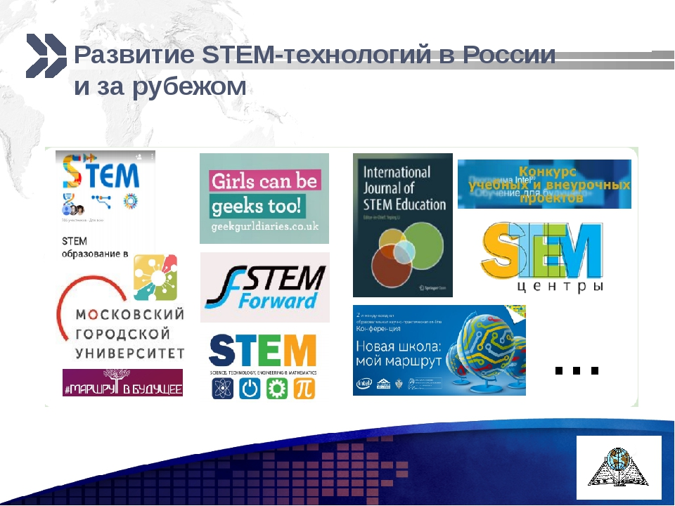 Развитие STEM-технологий в России и за рубежом Add your company slogan LOGO