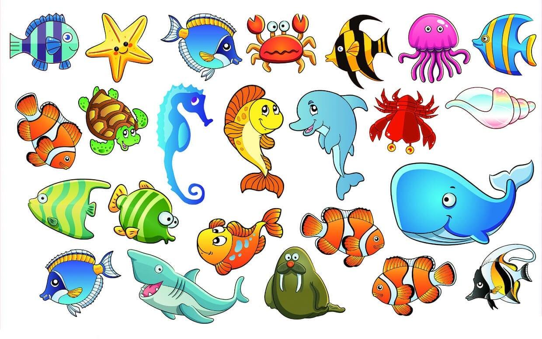 Картинки для срисовки морские обитатели