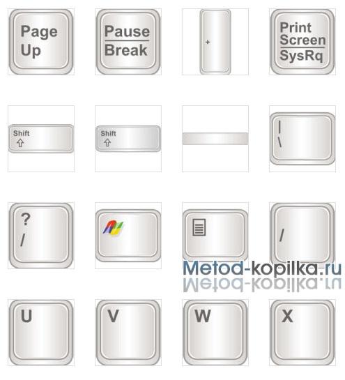Клавиши стандартной клавиатуры
