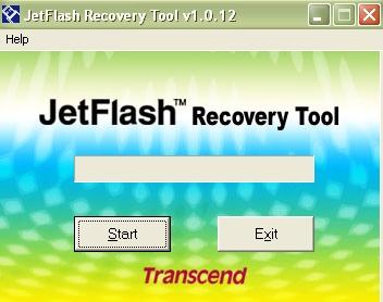 Окно JetFlash Recovery Tool